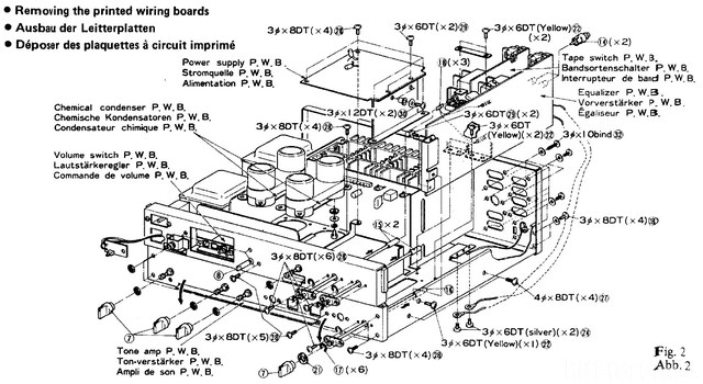 Hitachi HA 7700 Disassembly Figure 2