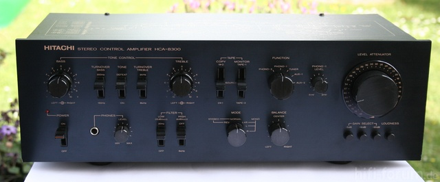 Hitachi HCA-8300 Stereo Control Amplifier - Front View