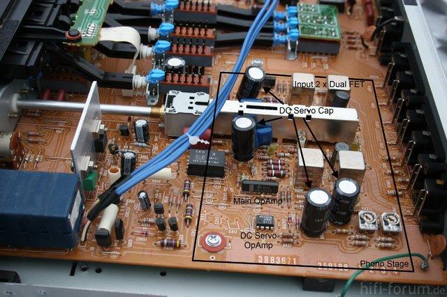 Hitachi HCA 8500MkII PCB Phono Section Marked DC Servo