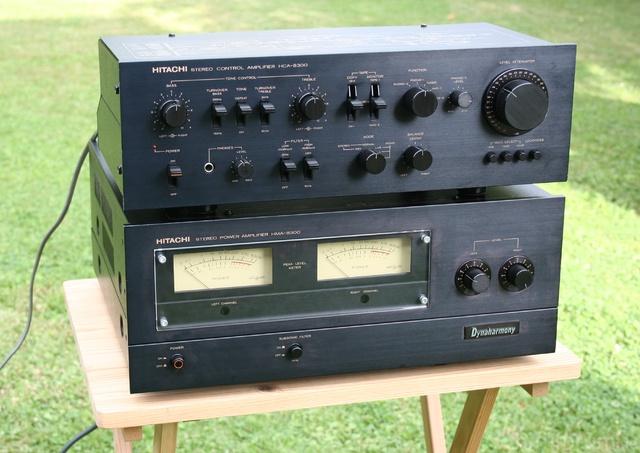 Hitachi HMA-8300 Main Amp with HCA-8300 Control Amp
