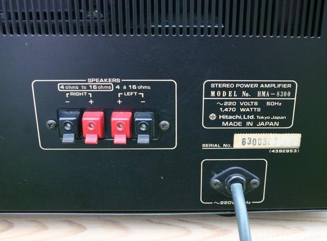 Hitachi HMA 8300 Power Amp Loudspeaker Terminal