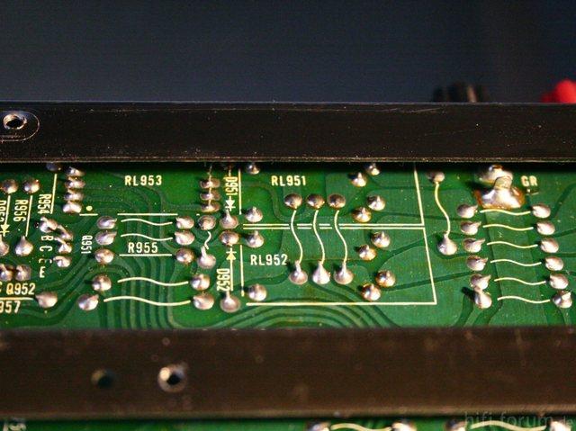 Hitachi HMA-8500 MkII PCB solder side relays pinout