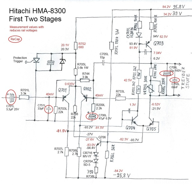 HMA 8300 Circuit First Stages ReCap Capacitor Replacement