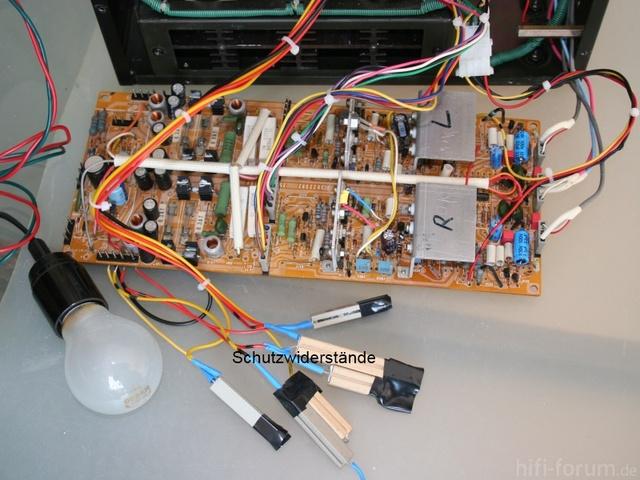 HMA 8300   Inbetriebnahme Mit Schutzwiderständen Und Glühbirne Primärseitig