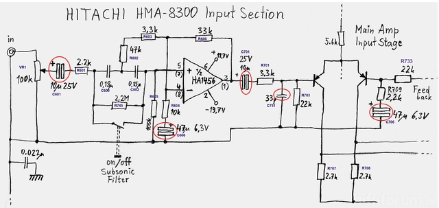 HMA 8300 Input Section ReCap Capacitor Replacement