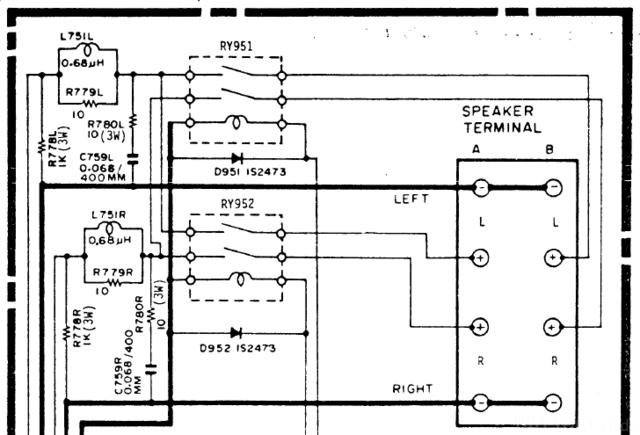 HMA-8500MkII schematic detail Output Relays