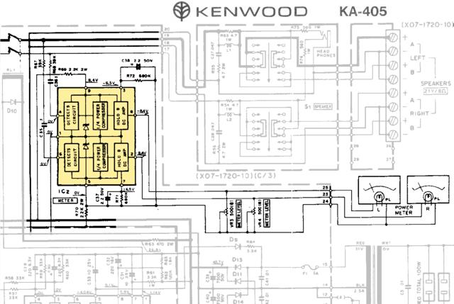 Kenwood KA-405 VU Meter schlagen unterschiedlich aus., Hifi ... on