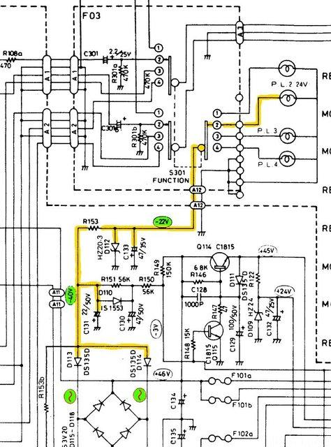 Luxman L-215 schematic power supply support voltage -22V