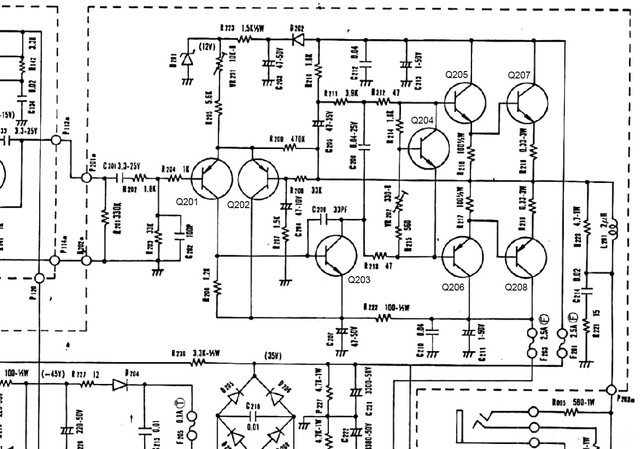 Luxman L 30 Schematic Detail Power Amp Section