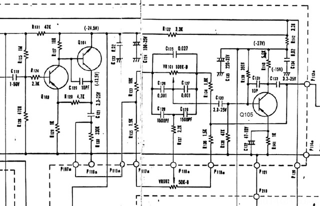 Luxman L 30 Schematic Detail Tone Amp Section