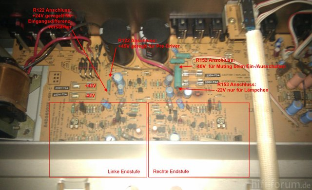 Luxman L 400 L 230 Inside Naked With Supply Voltages Test Point Measurements
