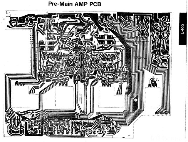 Luxman L-400 L-230 Main PCB Layout
