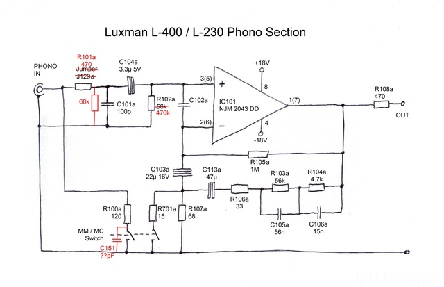 Luxman L 400 L230 Phono Section  In Reality  Midres