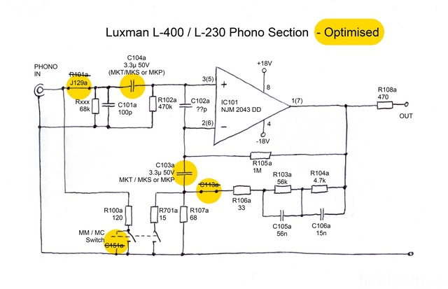 Luxman L 400 L230 Phono Section  Optimised Midres