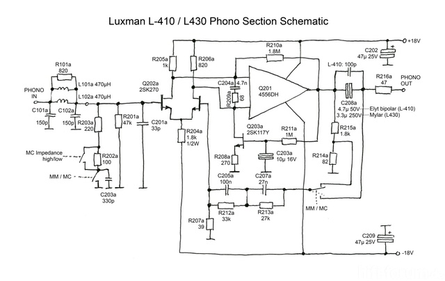 Luxman L 410 Phono Section Schematic  Midres