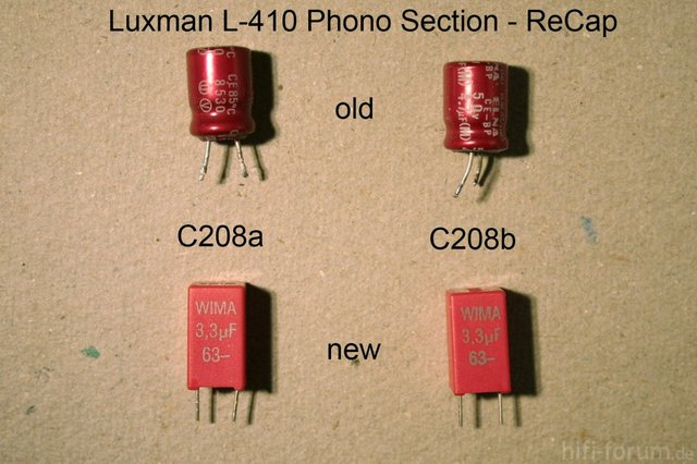 Luxman L 410 Phono Section Upgrade Modification Of C208