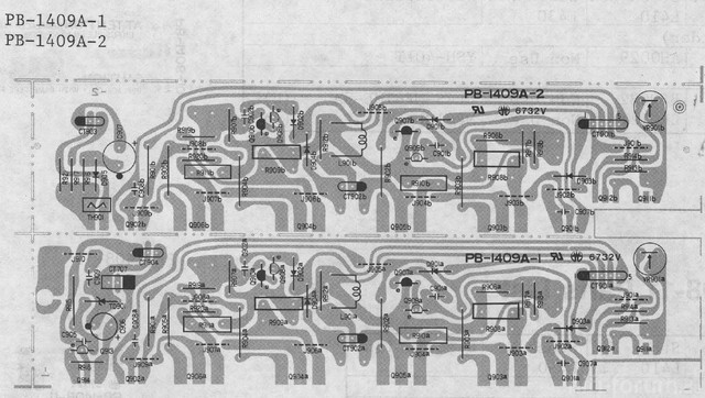 Luxman L 410 Power Amp Section PCB Layout