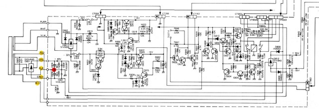 Luxman L 410 Schematic Power Supply Detail A