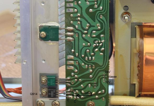 Luxman L-410 - Transistoren Der Spannungsregelung Für +24V