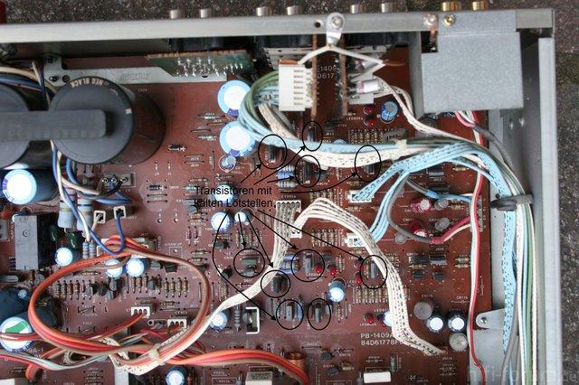 Luxman L 410 Transistoren Mit Kalten Lötstellen