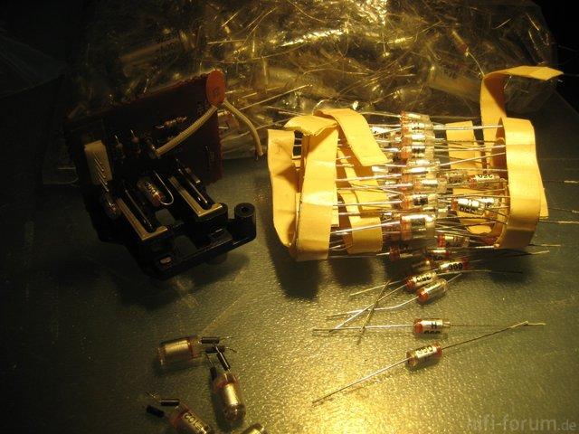 Luxman L 410 Tuner & Aux Input Capacitors Replacing