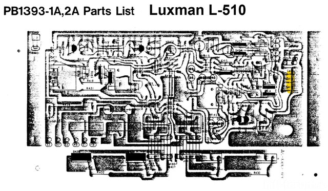 Luxman L-510 PCB Main Power Amp NFB Capacitor
