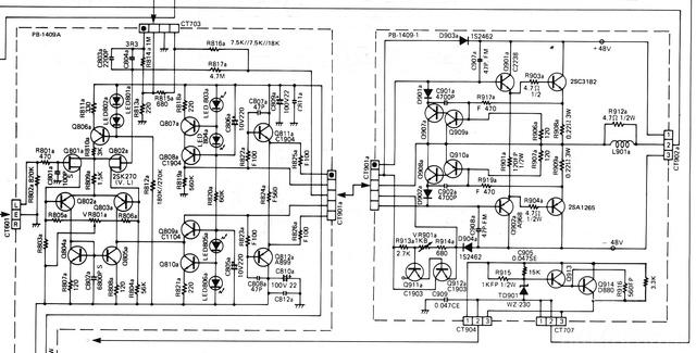 Luxman L410 Power Amp Section Schematic