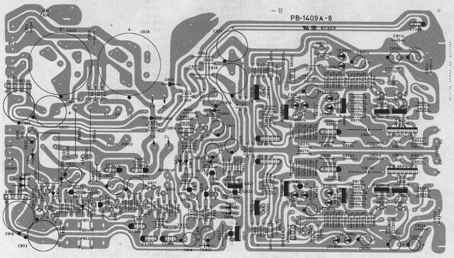 Luxman-L410_430 Main PCB Layout