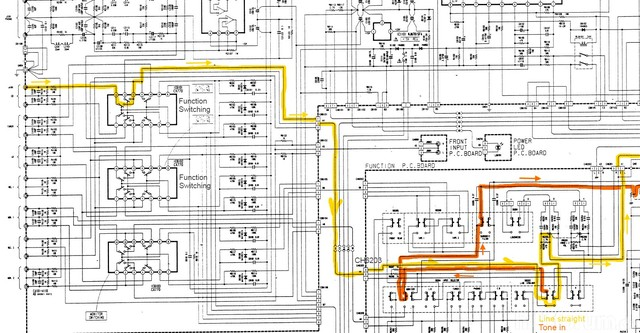Luxman LV 112 Schematic Detail With Signal Path Marked
