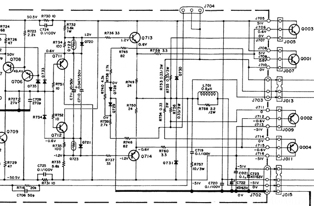 Marantz 170DC Schematic Detail Power Amp Last Stages  Edited
