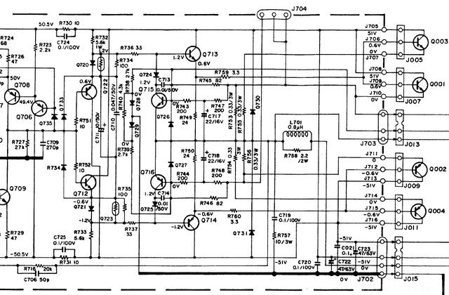 Marantz 170DC Schematic Detail Power Amp Last Stages