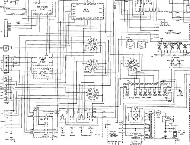 Marantz 2240B Block Diagram Detail