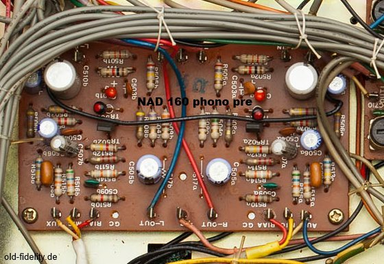 NAD 160 PCB of phono RIAA equalizer amp section picture