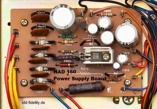 NAD 160 PCB of power sypply