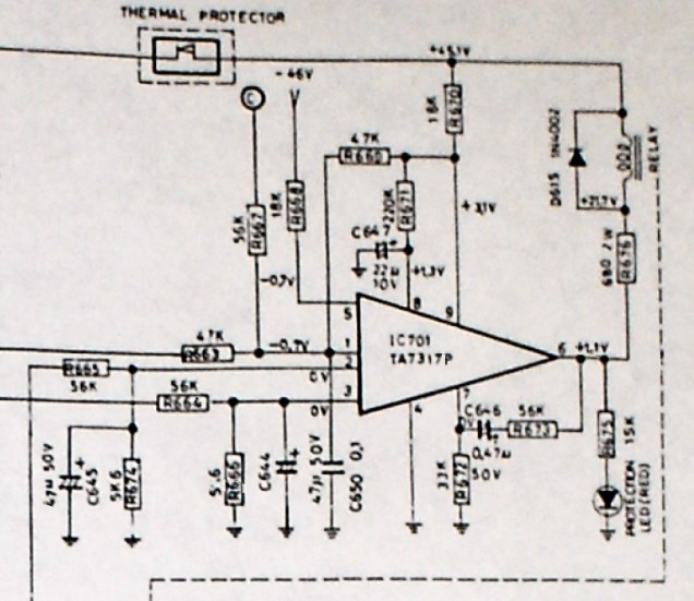 NAD 3150 schematic protection circuit