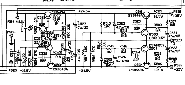 NAD 7100: Endstufe brummt auf linkem Kanal, Elektronik