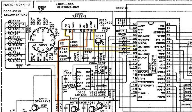 Onkyo A-8850 Schematic Volume Control 1