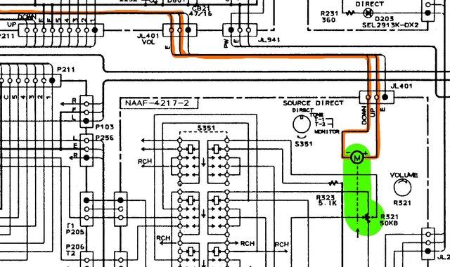 Onkyo A-8850 Schematic Volume Control 2