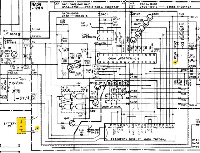 Onkyo T 9060 Schematic Battery Detail