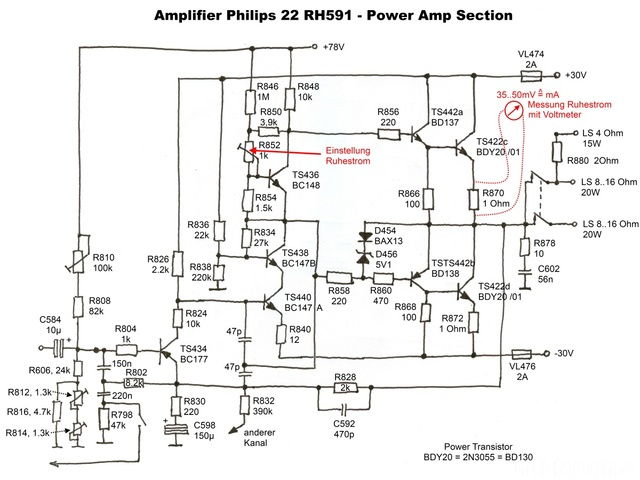 Philips 22RH591 Power Amp Section  Medium