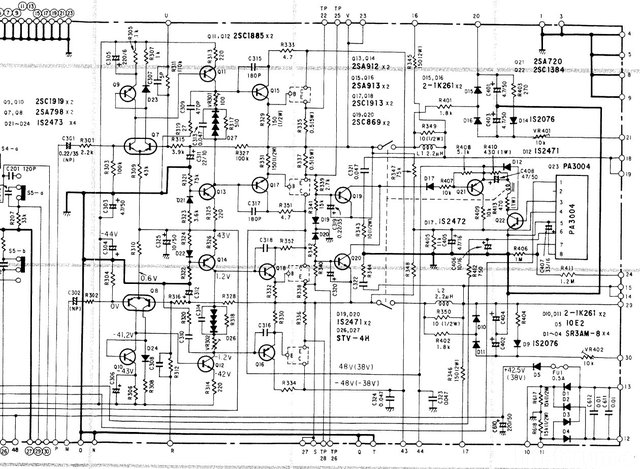 Pioneer SA 760 Schematic Power Amp Section