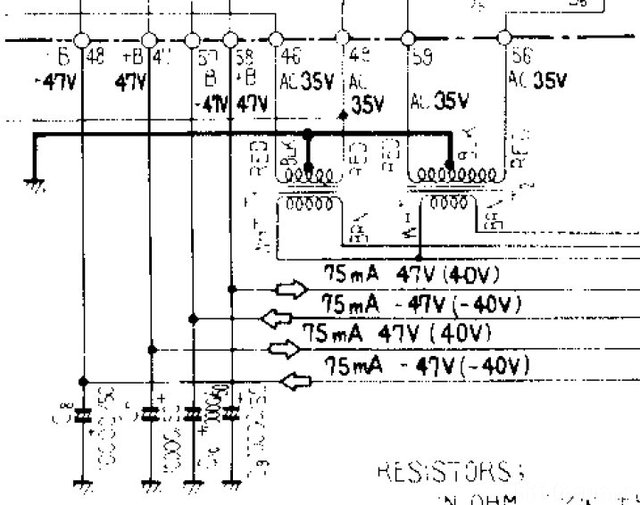 Pioneer SA 8500II Schematic Detail Power Transformers