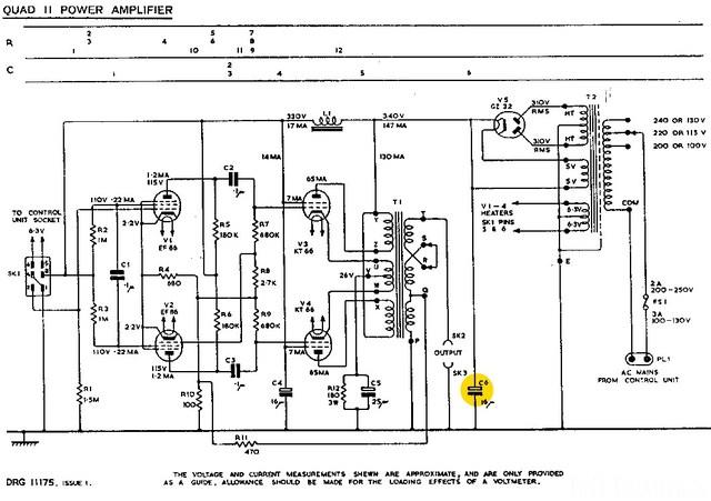 Quad II brizzelt und klingt nicht., Hifi-Kliker - HIFI-FORUM Quad Schematic on