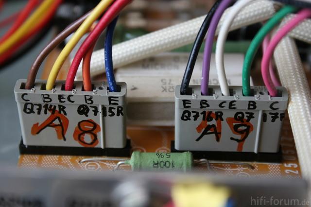 Reparatur Des Hitachi HMA-8300 - Anschluss Der Leistungstransistoren Des Rechten Kanals