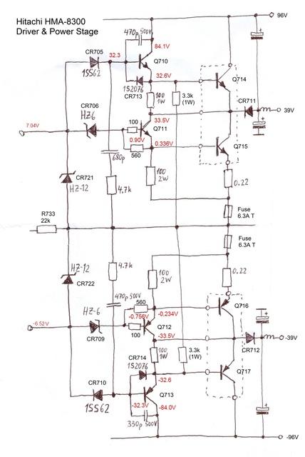 Reparatur Des Hitachi HMA-8300 - Inbetriebnahme Des Rechten Kanals Driver Stages