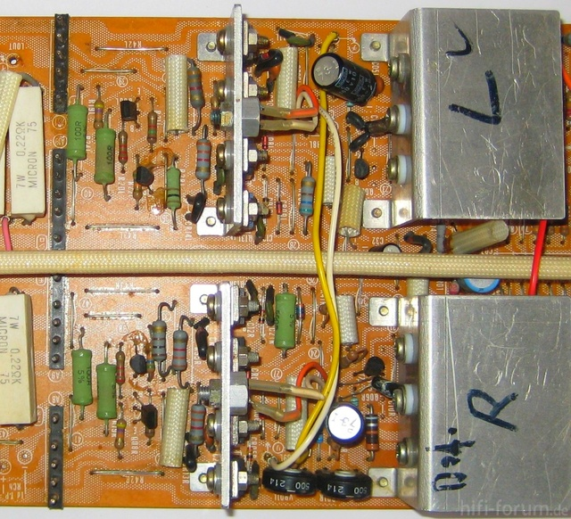 Reparatur Des Hitachi HMA-8300 - PCB 2nd & 3rd Stage - Component Side - BEFORE