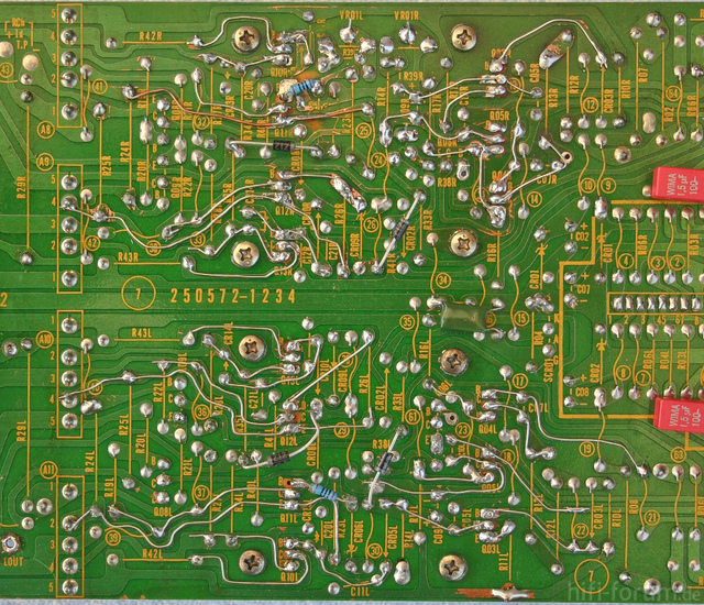 Reparatur Des Hitachi HMA-8300 - PCB 2nd & 3rd Stage - Solder Side - After