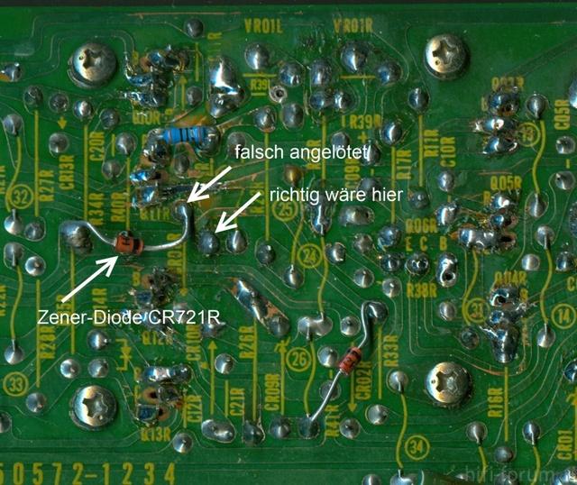 Reparatur Des Hitachi HMA-8300 - Zener-Diode Wrong Connection
