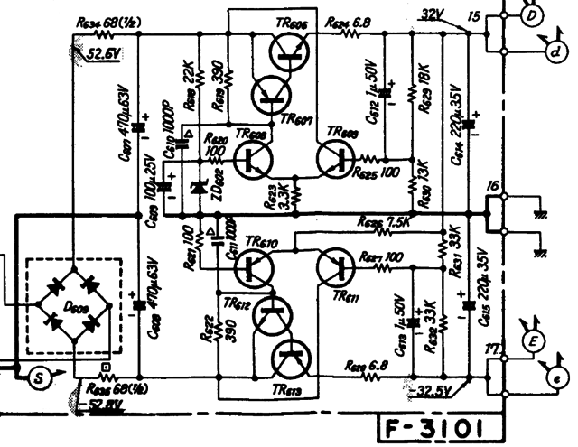 Sansui A 719 Schematic Detail Voltage Regulator