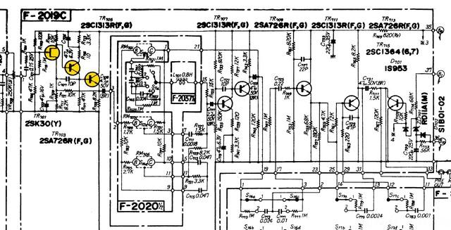 Sansui AU 8500 Schematic Detail Tone Control Amp